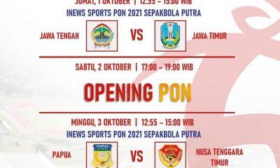 nonton streaming papua vs ntt pon pekan olahraga 2021